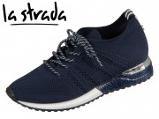 la strada Laced Up Knitted Sneaker 1802649-4560 navy blue knitted