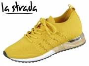 la strada Laced Up Knitted Sneaker 1802649-4582 yellow knitted