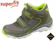 superfit Sport 5 1-000239-7000 grün gelb Velour Textil Tecno