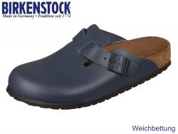 Birkenstock Boston 760873 blau Glattleder