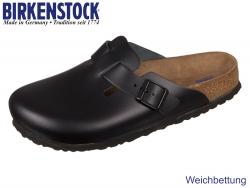 Birkenstock Boston 060413 schwarz Glattleder