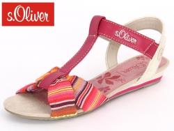 S.Oliver 5-48207-20-599 fuxia kombi Textile Imit.Nappa