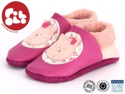 Pololo Kittybell KITTY BELL-202 rose pflanzlich gegerbtes Leder