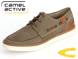 camel active Copa 376-22-04 green tea brandy Oil Suede Burn