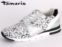 Tamaris 1-23635-35-983 silver-white Leder-Textil