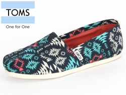 TOMS Classsic 10008981 blue multi blanket print Canvas