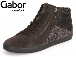 Gabor Rhodos 56.426-49 dark grey Velour Silk Snake