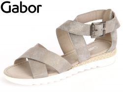 Gabor Rhodos 62.712-93 taupe Caruso Metallic Jute