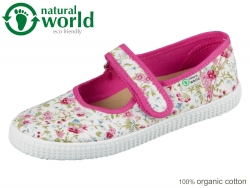 natural world W56001-12 Fuchsia organic cotton