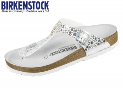 Birkenstock Gizeh 1008863 metallic stones silver Birkoflor