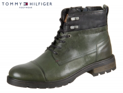 Tommy Hilfiger Leather Textile Mix Boot FM0FM00711-901 forest green