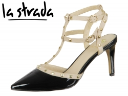 la strada 962445 black nude PU Leather
