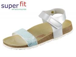 SuperFit Fußbettpantoffel 4-00123-95 metallic silver Tecno