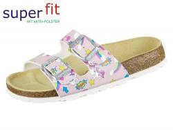 SuperFit Fussbettpantoffel 4-00111-55 rosa Tecno