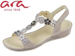 ARA Capri 12-28009--07 taupe silber iron Samtchevro Pulver Metallic