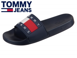 Tommy Hilfiger Flag Pool Slide EN0EN00474-431 black iris