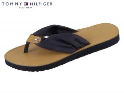 Tommy Hilfiger Footbed Beach Sandal FW0FW00475-403 midnight Baumwolle