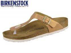 Birkenstock Gizeh 1012909 washed mettalic sea copper Leder