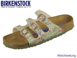 Birkenstock Florida 1012781 meadow flowers khaki Birko Flor