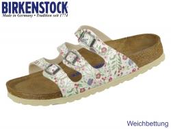 Birkenstock Florida 1012779 meadow flowers beige Birko Flor