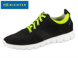 Richter 6622-541-9901 black neon yellow Velour Textil