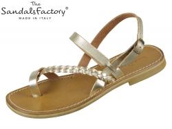 The sandals factory W0570 platino Vacchetta