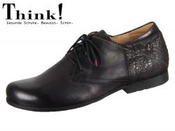 Think! SITTI HE 83661-09 Schwarz Kombi Calf Nebraska Rustic