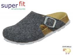 superfit Fußbettpantoffel 5-09115-20 grau Wollfilz