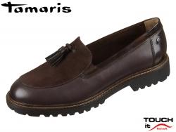 Tamaris 1-24704-23-304 mocca Materialmix Leder Synthetik