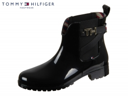 Tommy Hilfiger TH Hardware Rubber Bootie FW0FW04320-990 black