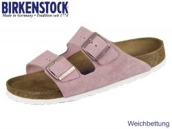 Birkenstock Arizona WB 1003731 rose Velour Leder