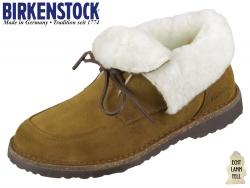Birkenstock Bakki 1014985 teak Nubuk Lammfellfutter Hydrophobic