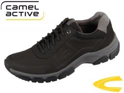 camel active Impact 533.11-01 black dark grey Cracy Horse Micro Suede