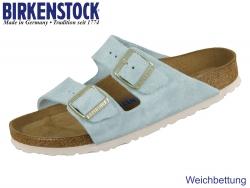 Birkenstock Arizona 1016393 light blue Velour Suede