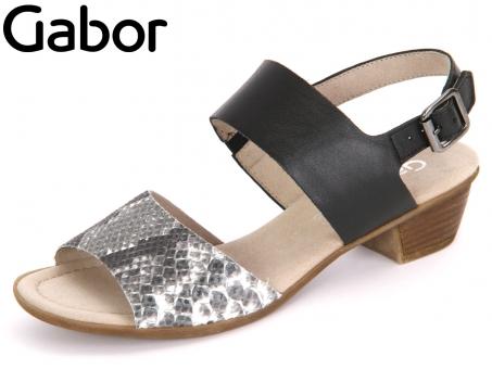 Gabor Kreta 62.474-51 schwarz weiss schwarz Cobra HT Nappa