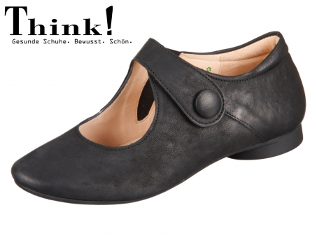 Think! Guad 82280-00 schwarz Washed Calf Veg