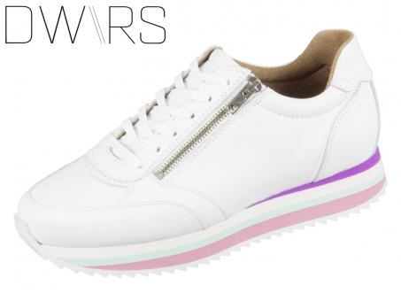 DWRS Napels V14A-06 white multi pink Leder