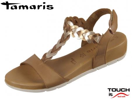 Tamaris 1-28231-22-380 cognac rose metallic Leder