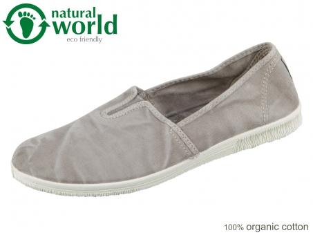 natural world 615E-670 gris claro taupe Baumwolle organic cotton