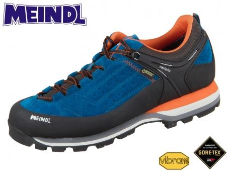 Meindl Literock GTX 3922-09 blau orange Velour Mesh Goretex