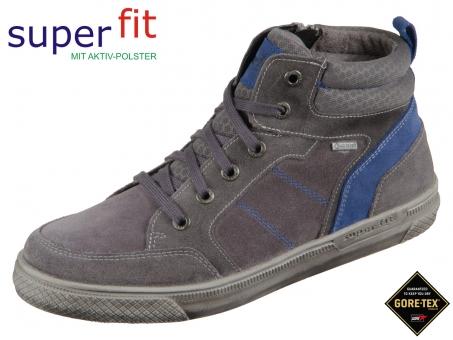 superfit LUKE 5-00201-20 grau blau Velour Textil