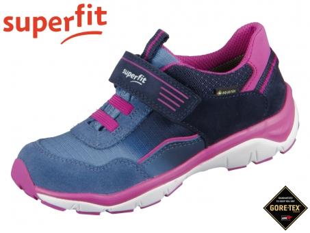 superfit SPORT5 0-609241-8200 blau rosa Velour Tecno Textil