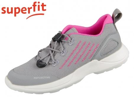 superfit RUSH 0-606213-2600 hellgrau rosa Tecno Textil