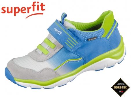 superfit Sport5 0-609241-8100 blau grün Velour Tecno Textil