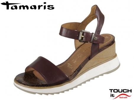 Tamaris 1-28015-24-335 cafe Leder