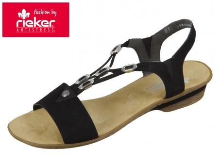 Rieker 63453-00 schwarz Morokko