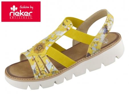 Rieker V7371-91 yellow multi Bouna
