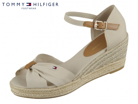 Tommy Hilfiger Basic Open Toe Mid Wedge FW04785-AEP stone