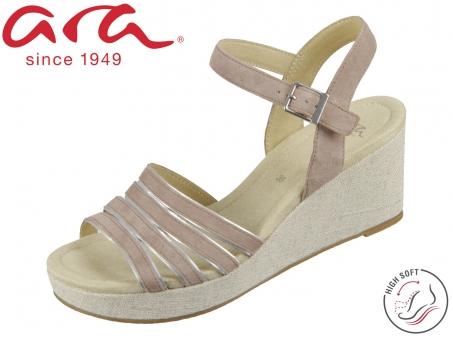 ARA Riccione HS 12-18701-77 taupe silber Samtchevro