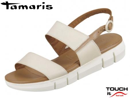 Tamaris 1-28190-34-439 cream cognac Leder